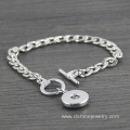 Silver Chain NOOSA Bracelet With Personalized Snap Buttons
